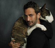 Re Making His Marc Marc Jacobs with his dog Neville, in New York. #portrait