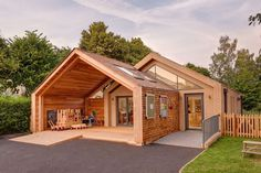 Warm and Friendly Feel Defining St Mary's Infant School in Oxfordshire, England #architecture #england