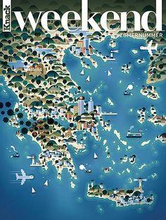 FFFFOUND! | design work life #greece #weekend #map #tourism #mag