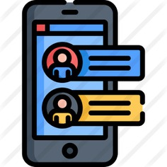 See more icon inspiration related to touch screen, electronics, mobile phone, communications, chat, smartphone, cellphone, iphone and technology on Flaticon.