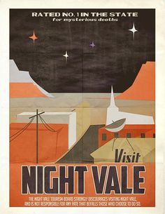 Welcome to Night Vale LIVE in Brooklyn October 10th (Second Show Added!) #flat #vector #orange #black #illustration #vintage