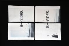 B-SIDES. http://b-sidesbtn.tumblr.com/ #layout #newspaper #photography #design