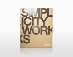Simplicity Works on the Behance Network #modern #simplicity #minimal #typography