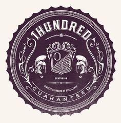 1hundred on the Behance Network #logo