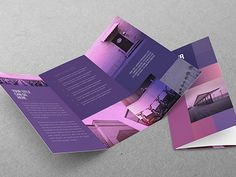 Clean Purple Squares Trifold You can download it here: http://graphicriver.net/item/clean-purple-squares-trifold/11119549?ref=abradesign #inspiration #design #purple #template #trifold #graphicriver #brochure