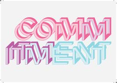commitment #happy #fb #rydell #illustration #lisa #typography