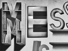 Dribbble - Mess by jeff #type #jeff #lettering #rodgers