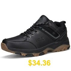 Caddy #Wolfclaw #Men #Durable #Hiking #Shoes #Outdoor #Lace-up #Anti-slip #- #BLACK