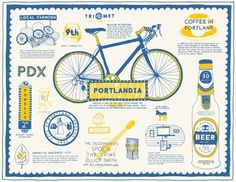 FFFFOUND! | Bijan Berahimi - Graphic Design & More #cute #illustration #portland #bike
