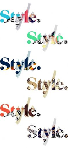 Brand New: Style Finally Looks Stylish #logo #identity #style #brush