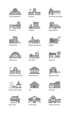 Catagories-grey-full #pictogram #icon #sign #city #picto #building #symbol