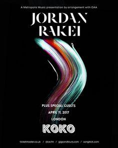 Poster design for Jordan Rakei by #music #soul #art #design #abstract