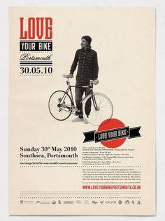 Love your Bike #design #typography #layout #bike