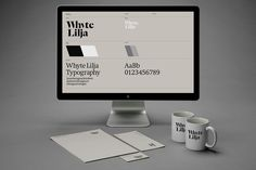 Logo, stationery, mugs and brand guidelines designed by Kurppa Hosk for Swedish architectural firm Whyte Lilja #logo