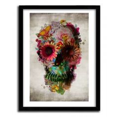 Floral skull 2 by Ali Gulec #print