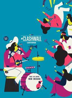 converse x dawid ryski | #clashwall on Behance
