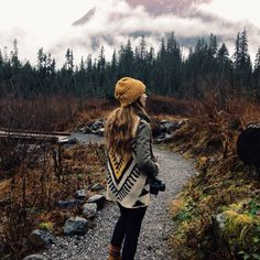 Tumblr #pullover #forest #nature #girfl