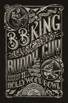 Blues Poster by Christopher Martin #type #etching #poster