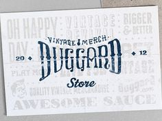 Dribbble - Duggard Post Cards by James Graves #card #print #typography