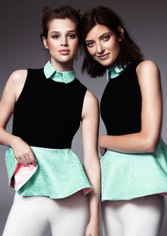 Anais Pouliot and Marikka Juhlerfor H&M's 2013 Design Winner Collection #fashion #model #photography #girl