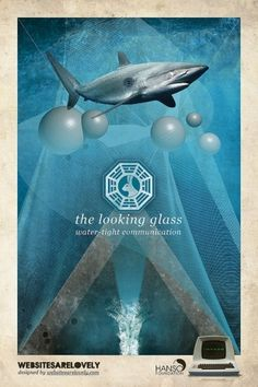 The Looking Glass | Flickr: Intercambio de fotos #movie #design #graphic #initiative #dharma #vintage #poster #collage #tv #lost