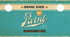 Paint Can 1 | Flickr - Photo Sharing! #paintcan #design #vintage #label