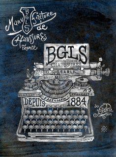 BGLS Manufacture I on Behance #typewriter #vintage #typo