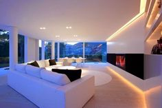 Lake Lugano House by JM Architecture #ideas #interiors #living #room