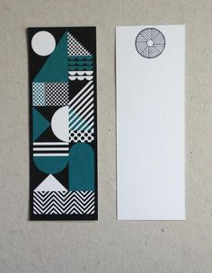 Image of 'Moon' Bookmark #print #geometry #bookmark