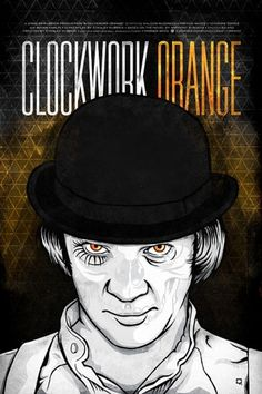 RONLEWHORN #movie #celebrity #clockwork #halloween #orange #portrait #scary