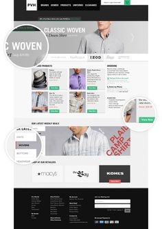 PVH Corporate Outfitters #clothing #commerce #ux #ui #store #meszaros #retail #stephen #web #online