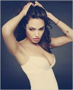 Tumblr #model #angelina #women #jolie #dress