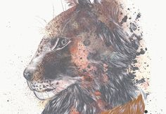 ● LYNX POSTER / on Behance #animation #vector #biro #fineart #design #head #drawing #graphic #illustration #handmade #gif #poster #quotation #lynx #symmetry #watercolor #animal #typography