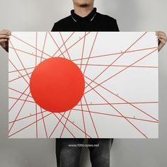 100copies — 04 - Land Of The Riding Sons #fixie #flag #print #wheel #poster #bike #art #japan