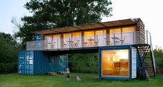 Small Mobile Hotel Made From Three Shipping Containers