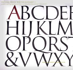 I love the Roman Letter on Behance #calligraphy #type #letters #font