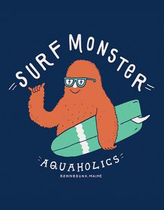 Vaughn Fender #typography #surfing #monster