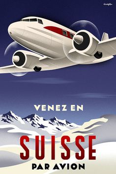 Suisse Poster #travel poster #suisse #air travel