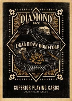 Diamondback Playing Cards - Aaron von Freter #freter #diamond #aaron #playing #snake #von #cards