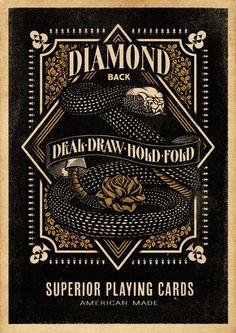 Diamondback Playing Cards - Aaron von Freter #freter #diamond #aaron #playing #snake #von #cards