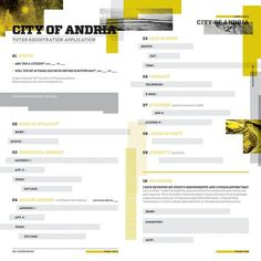 City of Andria - identity on the Behance Network #form #print #layout #color