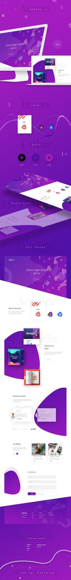 Agency - Web Design on Behance