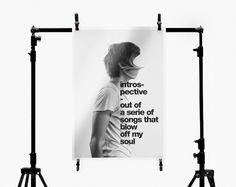 photo poster from Introspective by Cristian Valverde http://bit.ly/Lsyrf5 #dada #neue #white #body #black #photography #portrait #minimal #face #and #type #helvetica #bauhaus #typography