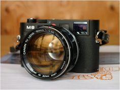 Leica M8 with Canon Dream Lens #camera #lens #design #canon #dream #leica #industrial
