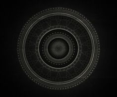 Inner space on Behance #beautiful #mandala #monochromatic #black