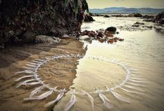 Gerry Berry with land beach art instalation
