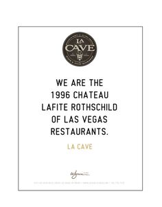 LA CAVE Ads #text #branding #design #clean #advertising #copy #simple #lasvegas #whyworkshop