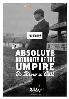 You're Out!!! « Eephus League #baseball #poster