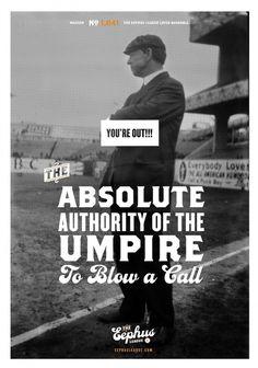 You're Out!!! « Eephus League #baseball #poster