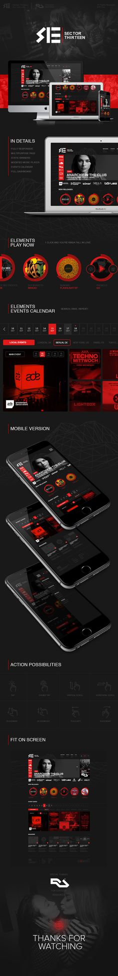 SECTOR 13 on Behance #ux #design #interface #ui #music #web